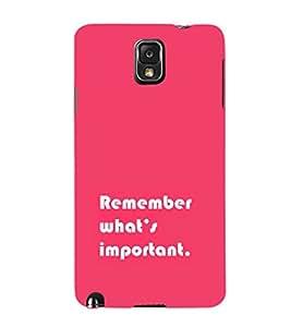 EPICCASE important Mobile Back Case Cover For Samsung Galaxy Note 3 (Designer Case)