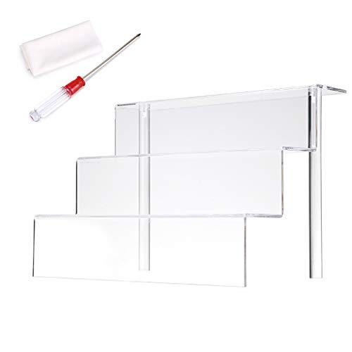 BTSKY - Acrylic display rack of 3 levels - Display stand of acrylic figures display rack Plastic shelf for nail polish, wrist, cartoon model 12 '* 8.5'