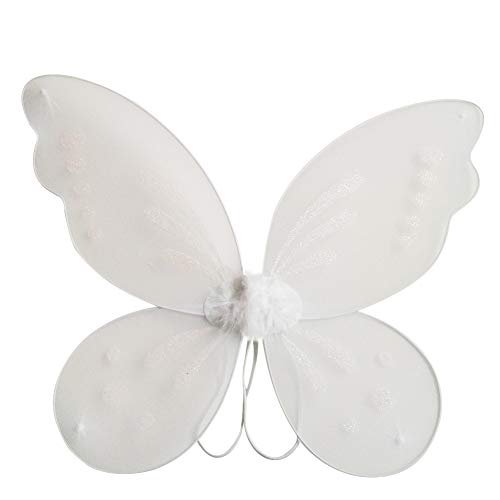 Oder Feen Weißen Engel Kostüm Mädchen - Miyanuby Kinder Mädchen Schmetterling Flügel Prinzessin Engel Halloween Flügel Party Fancy Verrücktes Kleid Fee Kostüm
