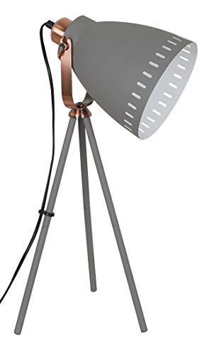 Solight Tischlampe Torino, Lampenstativ, 52cm, E27, grau Stahl 60 W, Large -