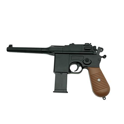 Pistolet Airsoft Rayline RV10 en métal (pression manuelle du ressort), réplique à l'échelle 1: 1, longueur: 24.5cm, poids: 360g, calibre: 6mm, couleur: noir - (moins de 0.5 Joule - à partir de 14 ans)