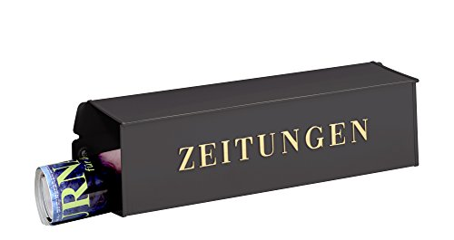 Burg-Wächter Zeitungsbox mit geprägeter Schrift, Metall, 808 E, Eisen