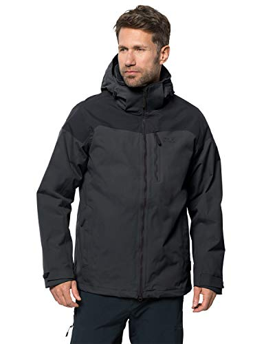 Jack Wolfskin Herren Mount Benson Jacket M 3in1-jacke, Phantom, XL