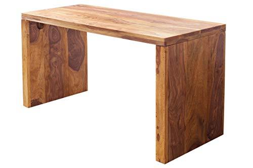 DuNord Design Laptoptisch Schreibtisch JAKARTA100cm Palisander Massiv Sheesham Natur Holztisch Konsole
