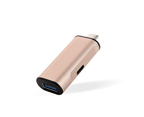 Morjava® ihub-12USB3.1Tipo C HUB USB tipo C adaptador cargador con 1adaptador de carga 1USB 3.0puerto y 1USB tipo C puerto de