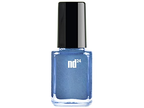 Nail Art - Estampage métallique bleu polonais
