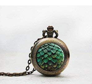 Dragon Egg Poket Reloj Colgante, Juego de Tronos Poket Reloj Collar, Joyas, Chapado en Plata Colgante,