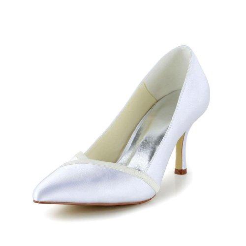 Jia Jia Wedding A3126 Scarpe Sposa Scarpe col tacco donna Bianco