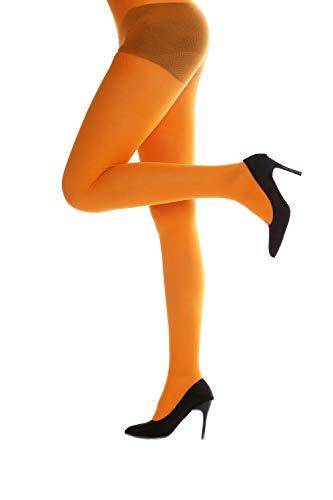 DRESS ME UP - WZ-012O-orange Strumpfhose Pantyhose Damenkostüm Party Karneval Halloween dehnbar orange S/M -