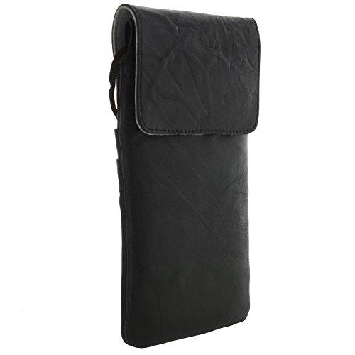 XiRRiX Leder Umhängetasche Brustbeutel für Handy Smartphone Samsung Galaxy A5 A6 A8 J5 J6 J7 2017...
