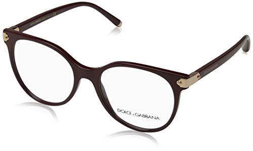 Dolce & Gabbana Damen Brillengestelle DG5032 Mehrfarbig (Bordeaux) 51