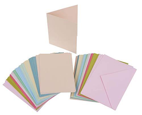 VBS Großhandelspackung 100tlg. Kartenset je 50 Karten & Umschläge farbig A6 & C6