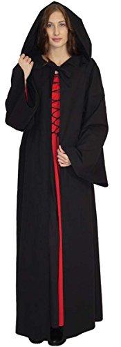 Maylynn 16281 - Mittelalter Umhang Damen Vampir Cape Kapuzenumhang 100% Baumwolle, Größe:M