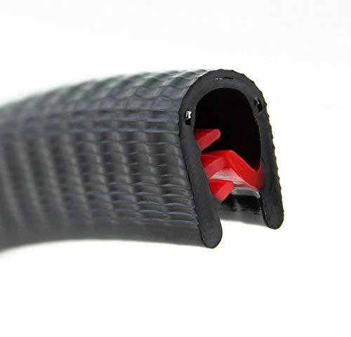 KS3-6S Kantenschutzprofil von SMI-Kantenschutzprofi - PVC Gummi Klemmprofil - Stahleinlage - Kantenschutz - Schwarz - einfache Montage, selbstklemmend ohne Kleber Klemmbereich 3-6 mm (3 m, Schwarz)