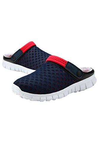 TOOGOO(R) Scarpe da tennis Slip-on delle donne di estate nuove donne di vendita calda maglia sport di respirabile scarpe di svago unisex coppie scarpe casual Verde grigio US7 =EUR39 blu & rosso