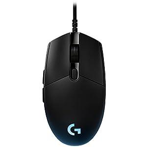 Logitech G PRO Gaming Maus, 12000 DPI Sensor, RGB-Beleuchtung, USB-Anschluss, 6 Programmierbare Tasten…