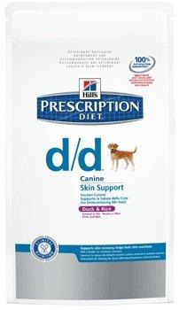 prescription diet d/d canine mangime secco anatra e riso kg. 2