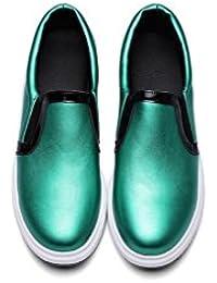 Beauqueen Pumps Frauen faul Schuhe Frühling und Sommer Slope Ferse elastische Band weibliche Arbeitsstiefel grün schwarz gold Freizeitschuhe Europa Größe 34-43 , green , 38