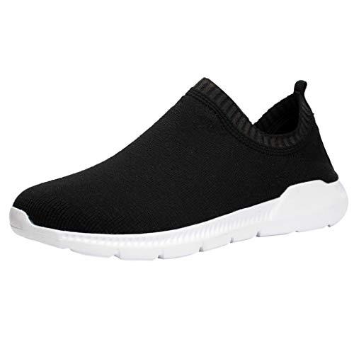Kostüm Faul Männer - Sonnena Laufschuhe Herren,Männer Weben Sportschuhe Socken Schuhe Weiche Sohle Turnschuhe 2019 Sommer Sneaker Mode Rund Zeh Flach Freizeitschuhe Faule Schuhe