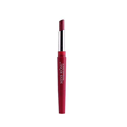 ESAILQ Neue Double-End Multifunktions Dauerhafte Lipliner Wasserdicht Lip Liner Stick Bleistift 8 Farbe Lippenstift Lipgloss (D)