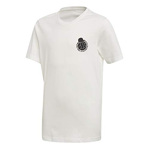 adidas Kinder Real Madrid Graphic T-Shirt, core White, 176 - Graphic T-shirt Short