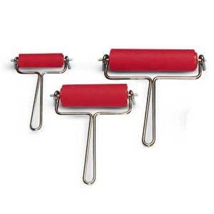 Linol-Farbwalze mit Drahtbügel, Breite 120 mm [Spielzeug]