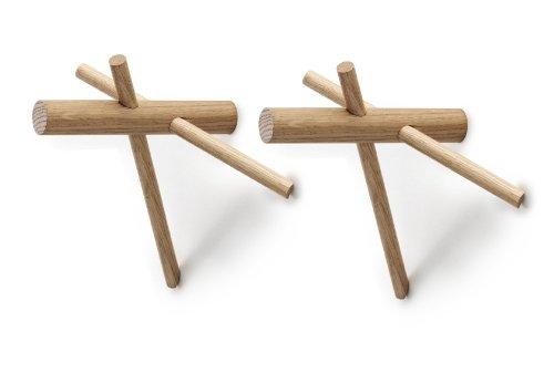 Normann Copenhagen 380505 Sticks Hooks 2er Set, Wandhaken
