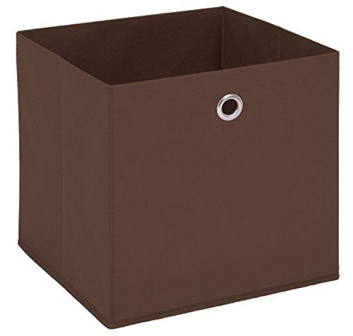 PEGANE Boîte Pliable en intissé Coloris Marron, L 32 X H 32 X P 32 cm