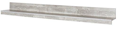 6.6.5.7.2957: Serie AWBW – made in BRD – schöne Anbauwand weiss-grau gescheckt dekor – Wohnzimmerschrank – TV-Wohnwand weiss-grau gescheckt dekor – Wohnschrank - 3