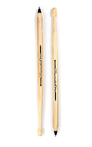 SUCK UK Kugelschreibern in Form von Drumsticks, schwarz - Set mit 2