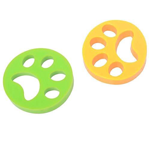 2-Pack Tierhaarentferner Pet-Stick Haarentferner Pet Fell-Haarentferner Waschmaschine Schwimmende Tierhaar-Catcher Wiederverwendbarer Hund Cat Hair Entferner Tool -
