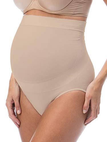 RelaxMaternity 5100 (Nude, M) Schwangerschafts-Slip Baumwolle mit eingebauter Unterleibstütze