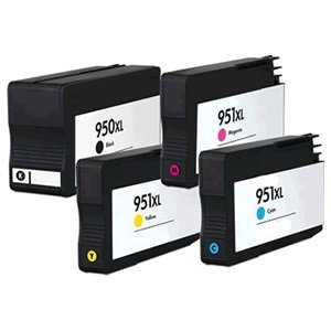 Prestige Cartridge HP 950XL / HP 951XL 4-er Pack Druckerpatronen für HP Officejet Pro 8100, 8600, 8610, 8615, schwarz / cyan / magenta / gelb