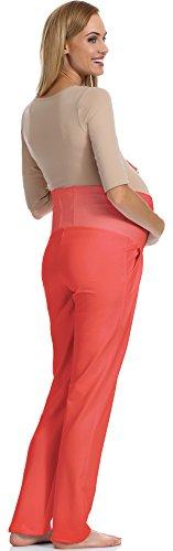 Be Mammy Pantalon de Maternité Femme GX207 Corail