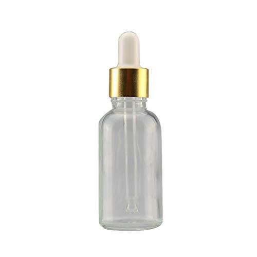 shyyymaoyi Mini 5 ml-100 ml Klarglas Reagenzflüssigkeit Pipette Leere Kosmetik Flasche, Glas, 100ml Transparent + Golden + White -