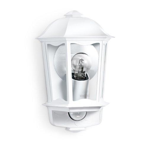 Steinel L 190 S blanco - Farol de pared exterior con 180° detector de movimiento, Farolillo Sensor con potencia de máx. 100 vatios, Iluminación de exterior, Aplique con diseño clásico, 644512