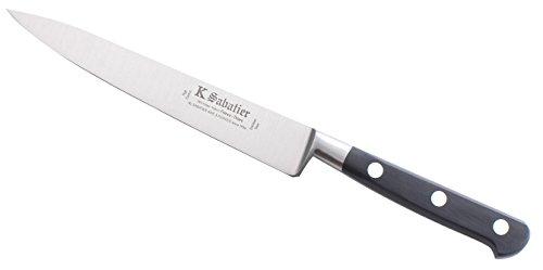 K Sabatier - Filet De Sole 15 Cm K Sabatier - Gamme Authentique - Acier Inoxydable - Manche Noir - 100% Forge - Entièrement Fabrique En France