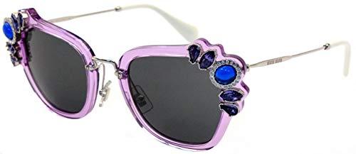 Miu Miu Damen 0MU03SS U691A1 51 Sonnenbrille, Violett (Lilac/Grey)
