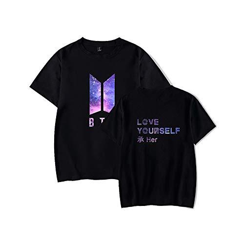 Zeruike Bangtan Boys Unisex KPOP BTS Love Yourself Tshirt Merchandise Jimin Jin Suga J Hope Rap Monster V Jung Kook Fan Konzert Tees