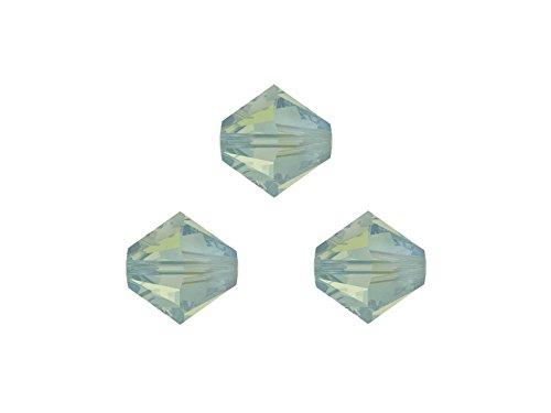 Creative-Beads Swarovski Perlen, Doppelkegel, bicone, 5328, 4mm, 50 Stück, Pacific opal, zum selber machen von Ketten, Armbänder und Ohrringe - Ab Swarovski Bicone