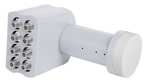 TELESTAR 5930508 SKYOCTO LNB zum Anschluss von bis zu 8 Sat-Receivern (0,1 dB, Full HD, 3D, 4K, 220mA, für 40 mm LNB Halterung) beige