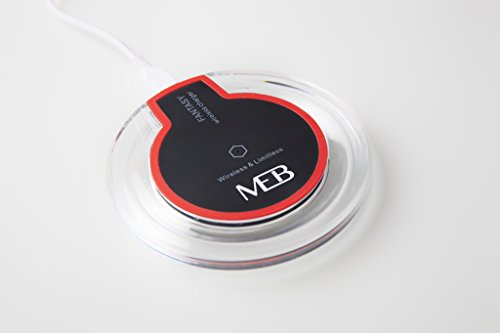 Wireless Charger - Ladegerät QI Kompatibel für Apple IPhone, Samsung und alle QI Fähigen Geräte kabellose induktive Ladestation - Hochleistungs Ladegerät / ultra dünn / schlaffreundlich