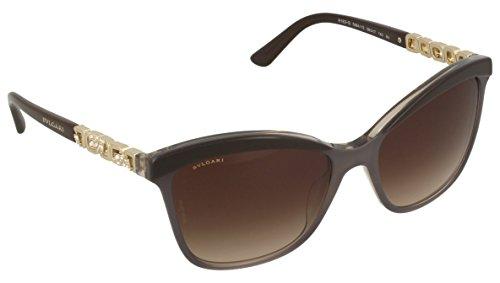 Bulgari Damen 0BV8163B 538413 56 Sonnenbrille, Braun (Top Brown/Grey/Crystal/Browngradient),