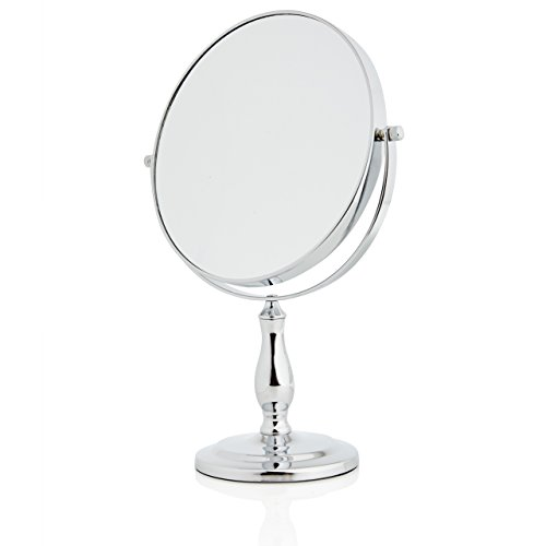 Lumaland formschöner Standspiegel Kosmetikspiegel 10fach Vergrößerung Test