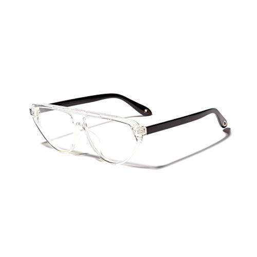 BAACHANG Mode Cat Eye Large Frame Optische Gläser, Unisex (Farbe : Transparent)