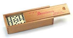 OSG Club Domino Jeu de domino familial en boîte en bois