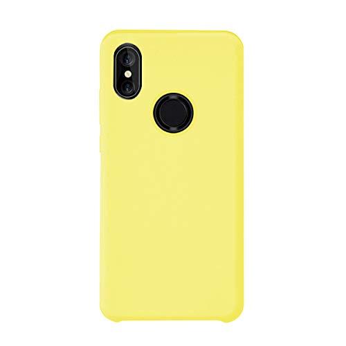 Funda Xiaomi Mi Mix 2S Silicona Ultra Suave TPU Gel Protectora Carcasa Caja Ultra Delgado Anti-Arañazos Absorción Impacto Cover para Xiaomi Mi Mix 2S Caso (Xiaomi Mi Mix 2S, Amarillo)
