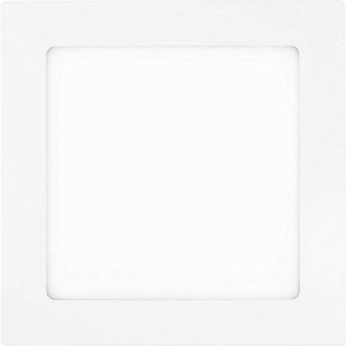 LUMIRA 12W Ultra-Slim LED Panel, Quadratisch 17x17cm, Einbau-Strahler, Decken-Lampe, Decken-Leuchte, 12 Watt Leistung, Ersatz für 70W Leuchtstoffröhren, Rahmenfarbe Weiß, inkl. Montage Befestigungs-Klammern und Trafo, 900 Lumen, 6500 Kelvin, Kaltweiß