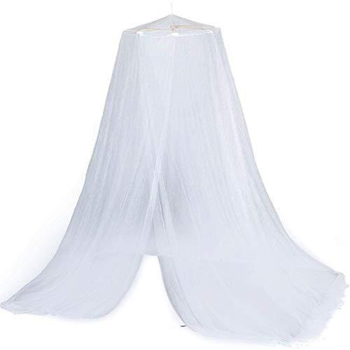 Ritapreaty Moskitonetz, Queen-Size-Bett Insektenschutz Großbild-Moskitonetz Runder Vorhang für Kinderbetten, Kinderbetten, Hängematten Weiß - Queen-size-baldachin-bett