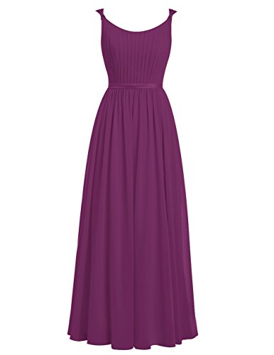 Dresstells Damen Ärmelloses Schickes Elegantes Abendkleid Ballkleid Mit Spaghetti Trägern Grape